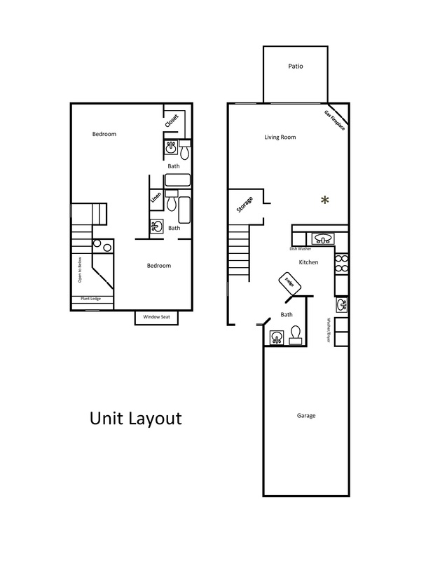 Picture Townhouse layout 3 bedrooms